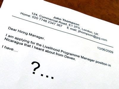 Cover letter for casting agents